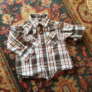 Plaid Western Shirt 2T